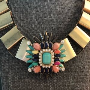 Gold and jewel accent necklace